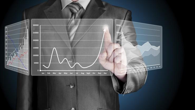 Graphs Trends Businessman